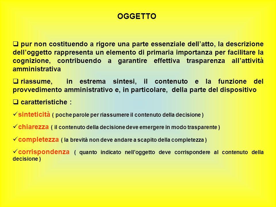 OGGETTO