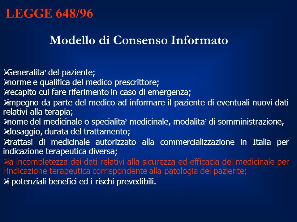 Modello di Consenso Informato