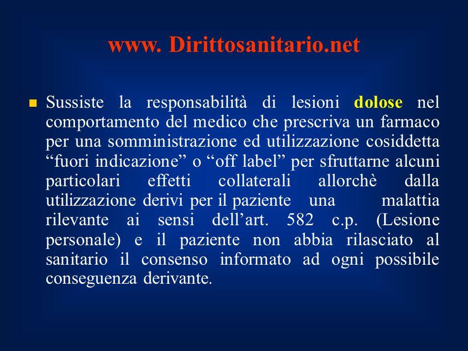 www. Dirittosanitario.net