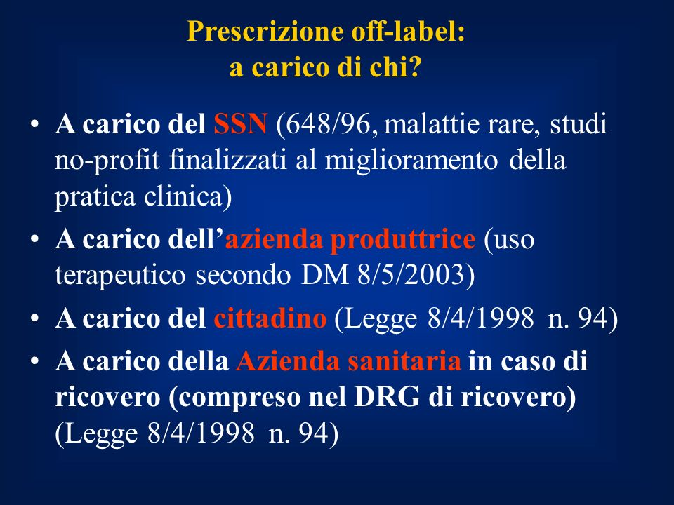 Prescrizione off-label:
