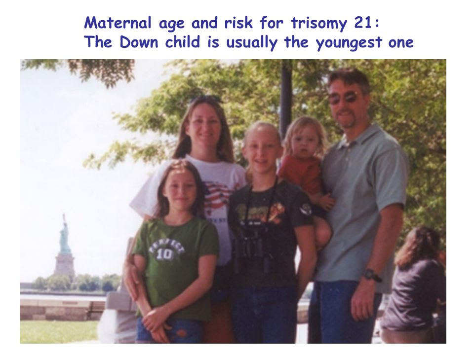 Maternal age and risk for trisomy 21: