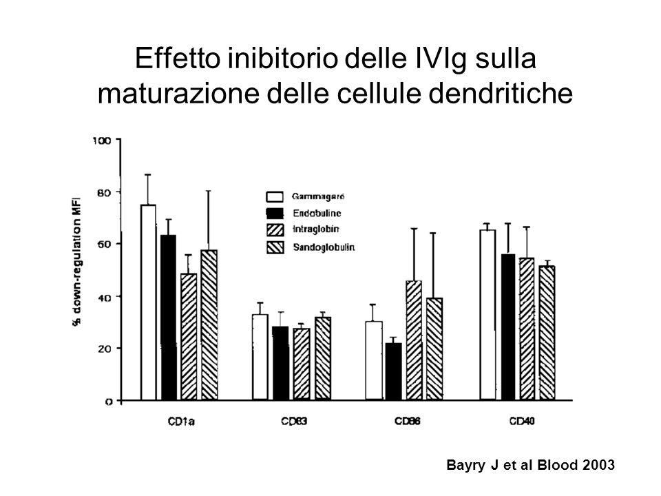 Effetto inibitorio delle IVIg sulla maturazione delle cellule dendritiche