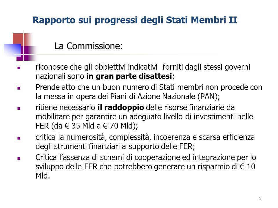 Rapporto sui progressi degli Stati Membri II