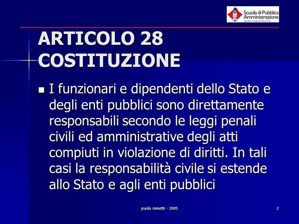 ARTICOLO 28 COSTITUZIONE