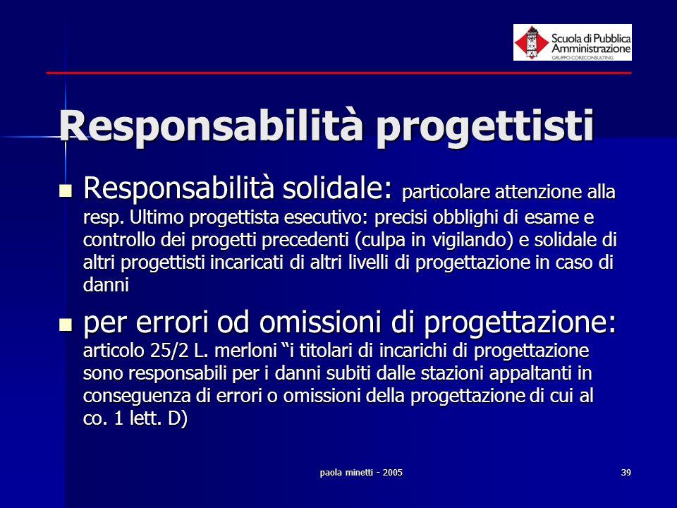 Responsabilità progettisti