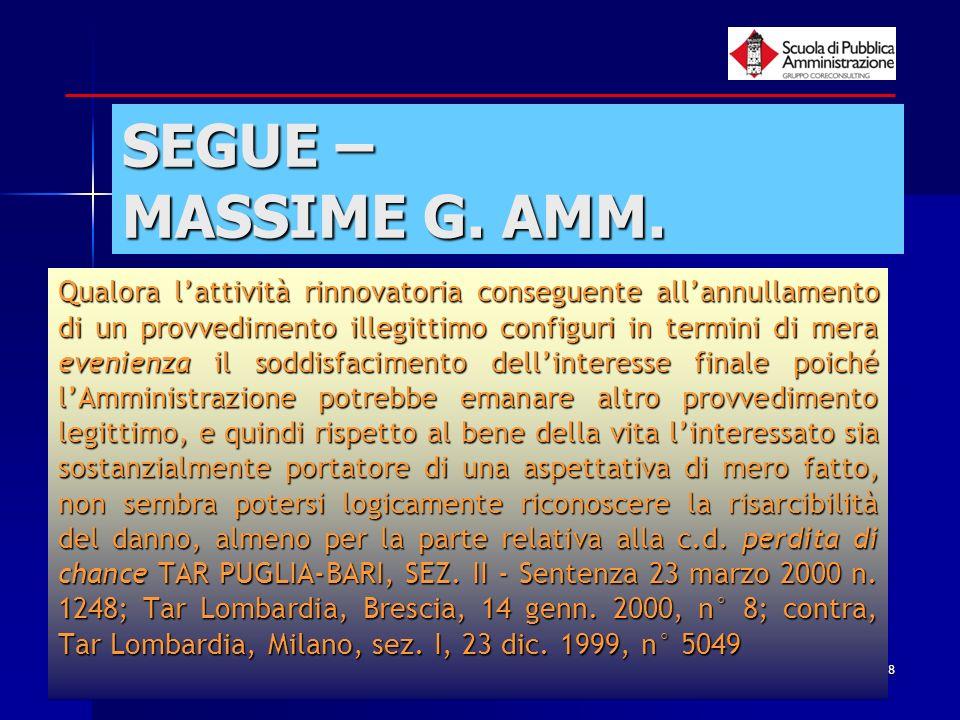 SEGUE – MASSIME G. AMM.
