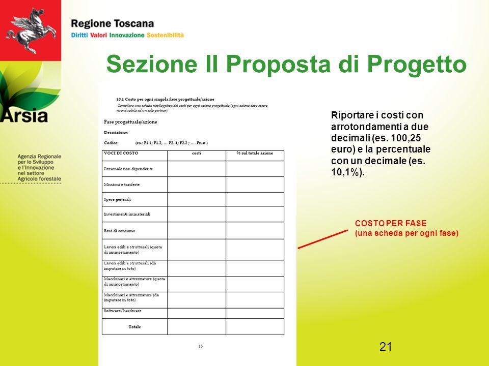 Sezione II Proposta di Progetto