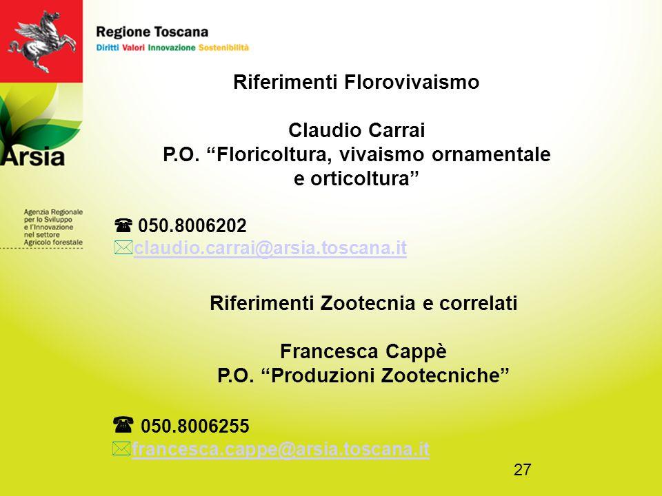  050.8006255 Riferimenti Florovivaismo Claudio Carrai
