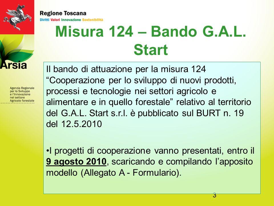 Misura 124 – Bando G.A.L. Start