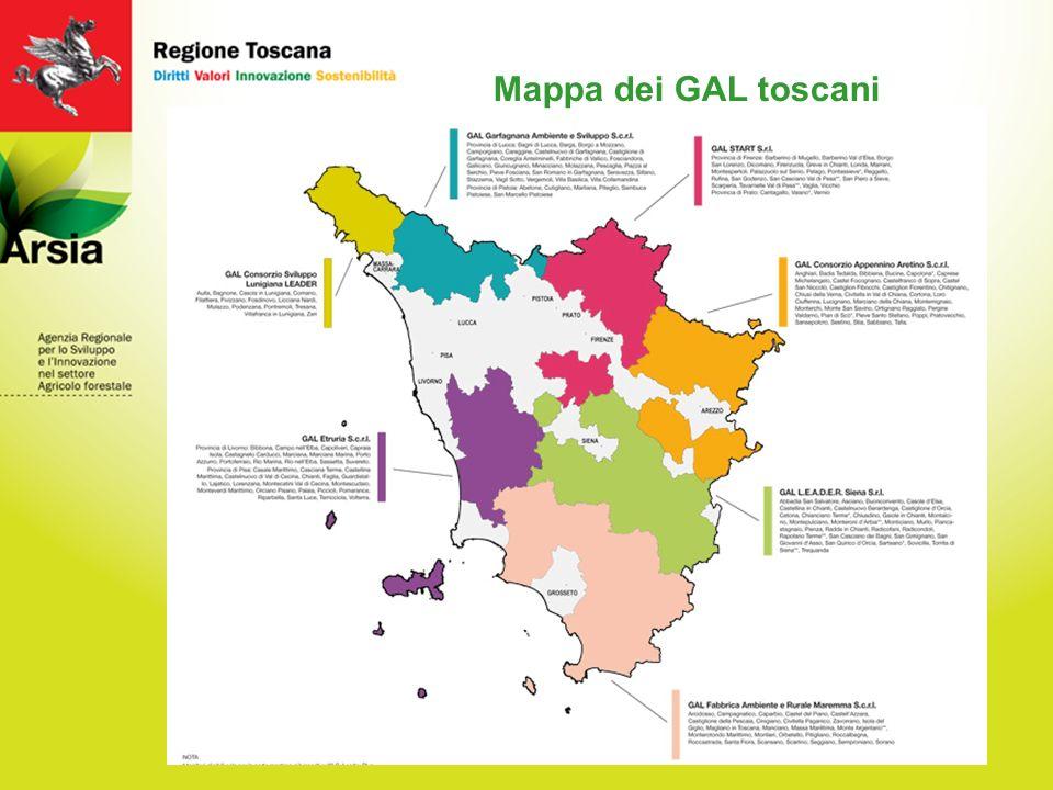 Mappa dei GAL toscani