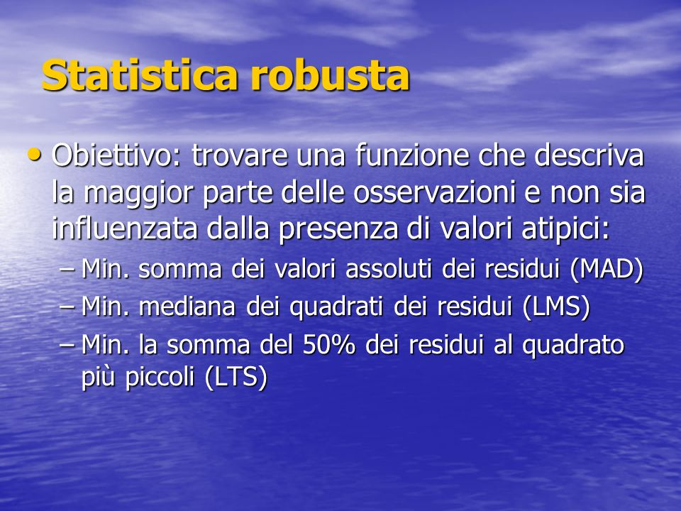 Statistica robusta