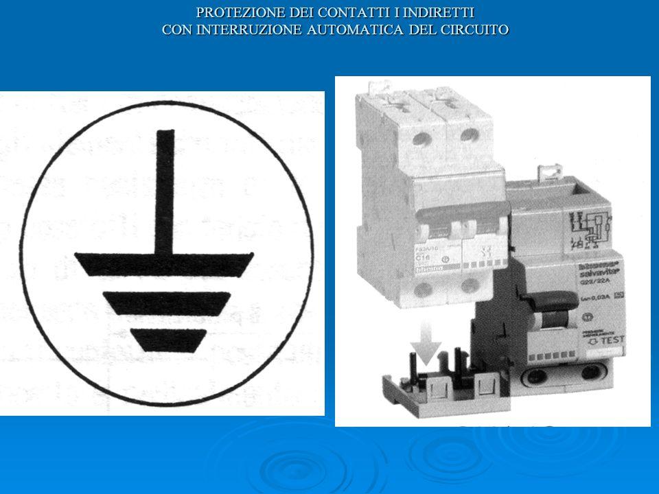 PROTEZIONE DEI CONTATTI I INDIRETTI CON INTERRUZIONE AUTOMATICA DEL CIRCUITO