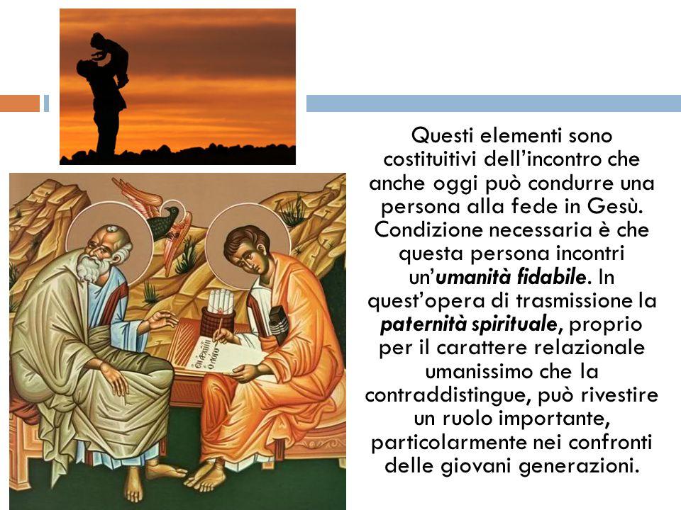 Questi elementi sono costituitivi dell'incontro che anche oggi può condurre una persona alla fede in Gesù.