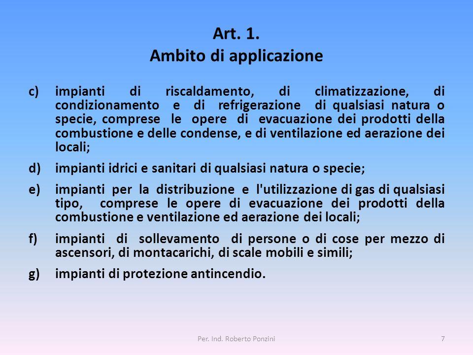 Art. 1. Ambito di applicazione