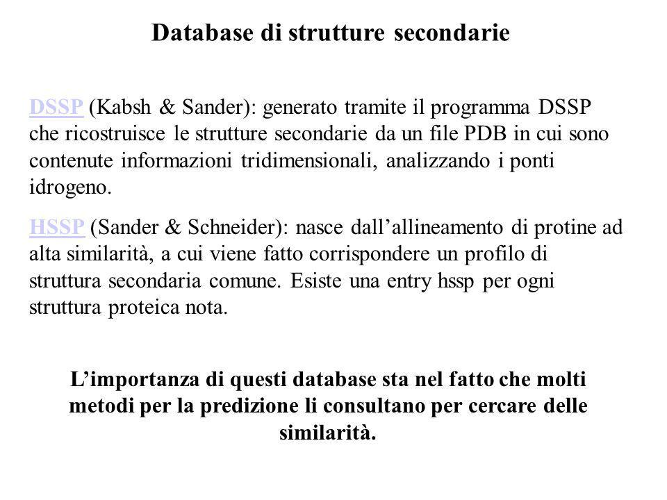 Database di strutture secondarie