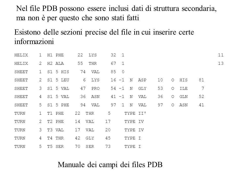 Manuale dei campi dei files PDB
