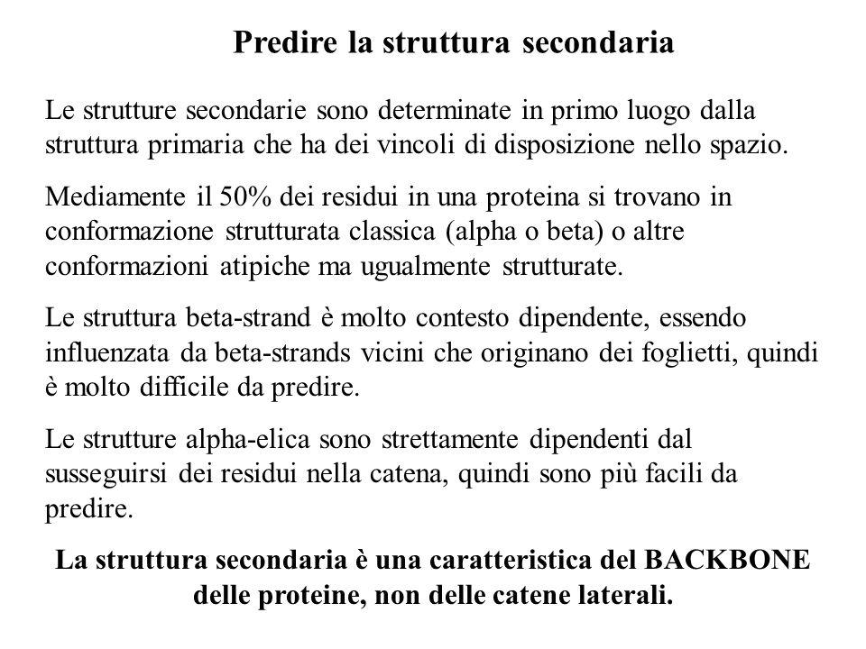 Predire la struttura secondaria