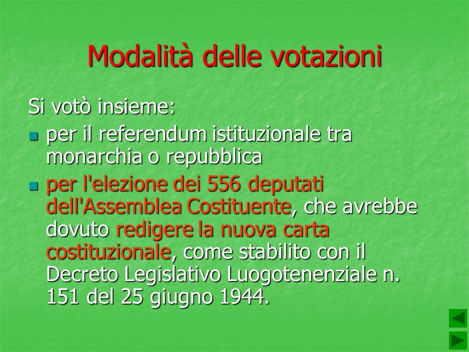 Modalità delle votazioni