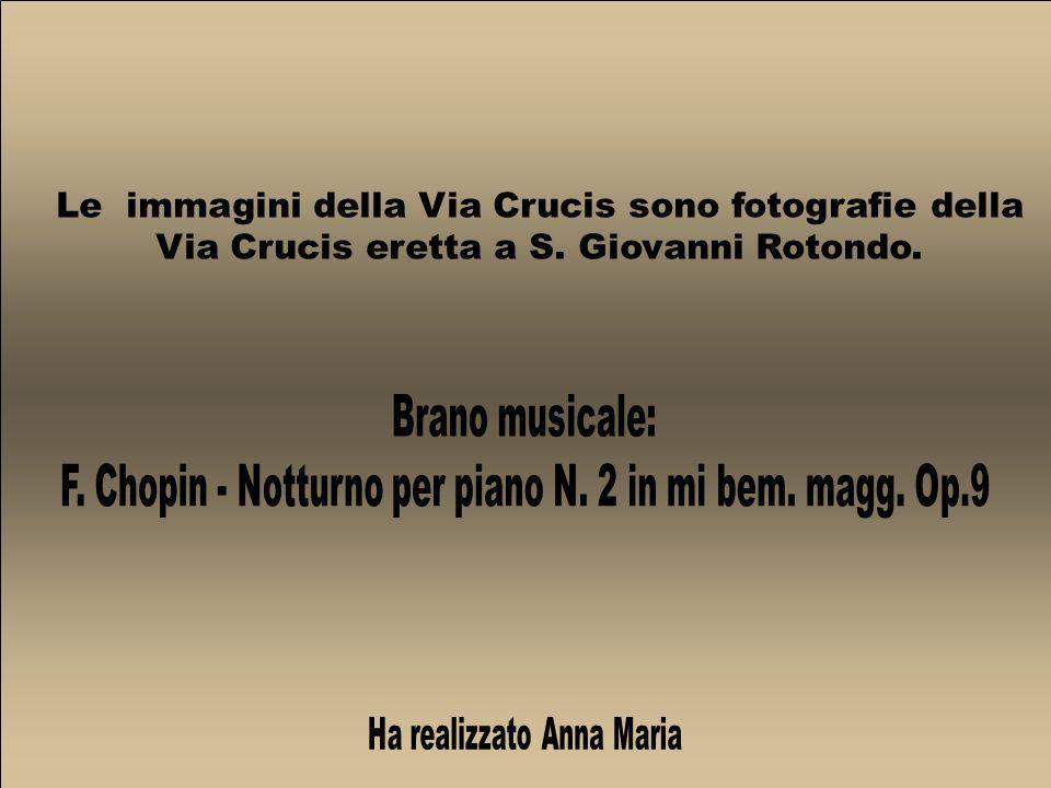 Le immagini della Via Crucis sono fotografie della Via Crucis eretta a S. Giovanni Rotondo.