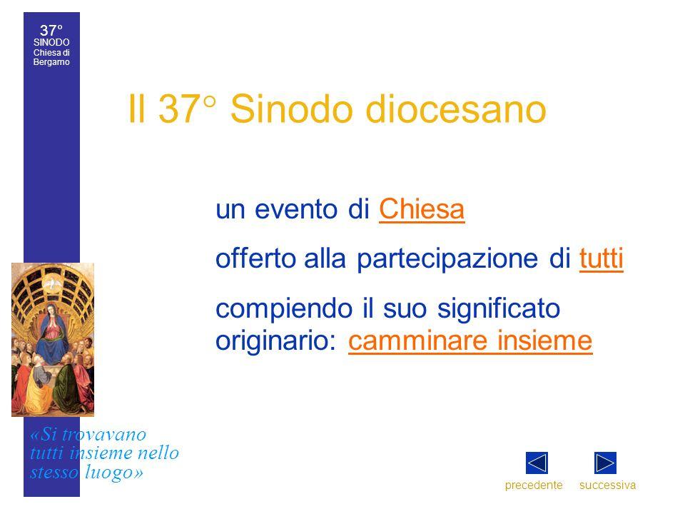 Il 37° Sinodo diocesano un evento di Chiesa