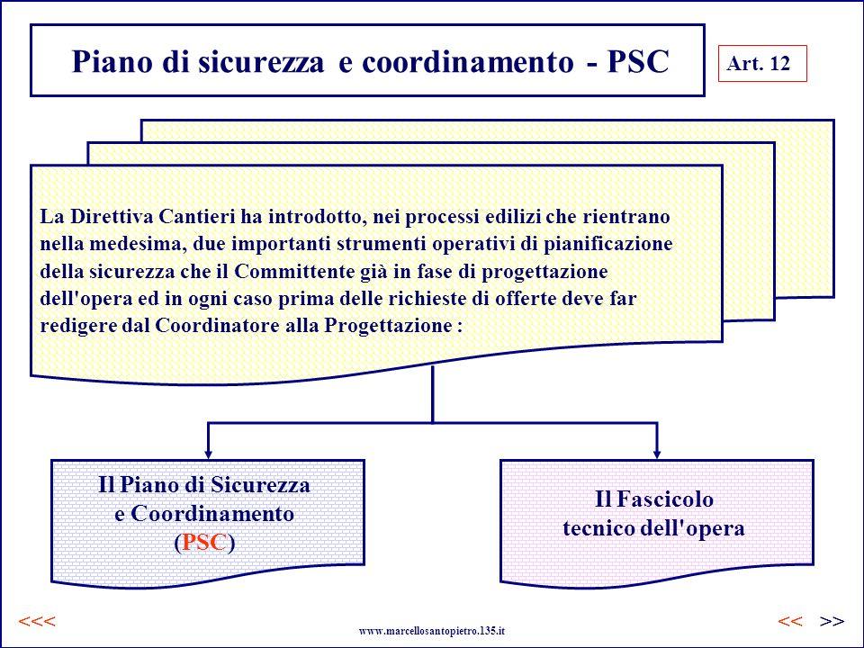 Piano di sicurezza e coordinamento - PSC