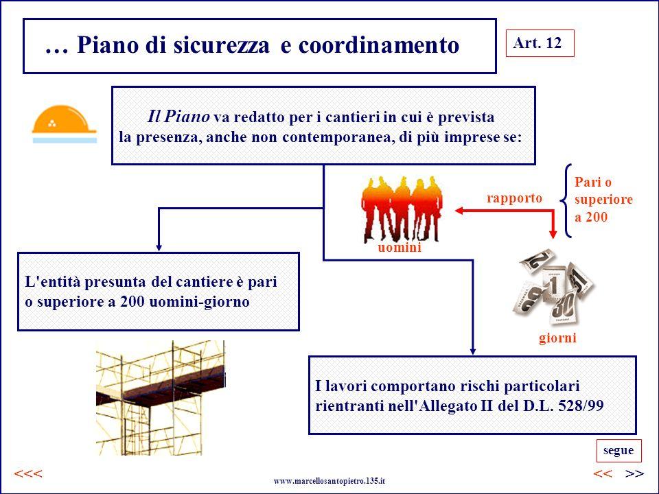 … Piano di sicurezza e coordinamento