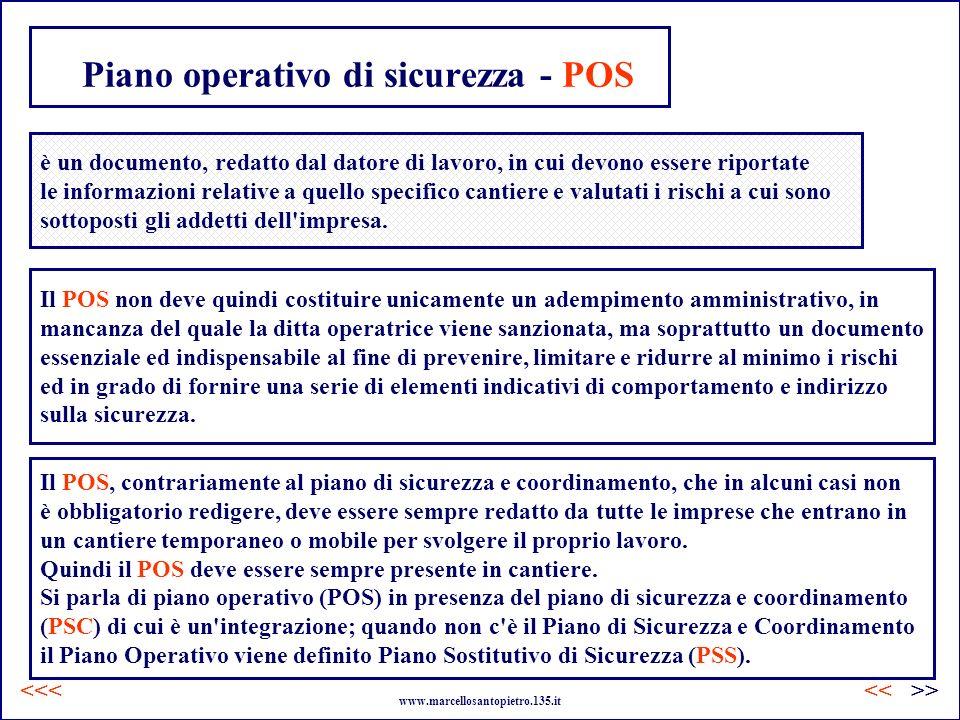 Piano operativo di sicurezza - POS