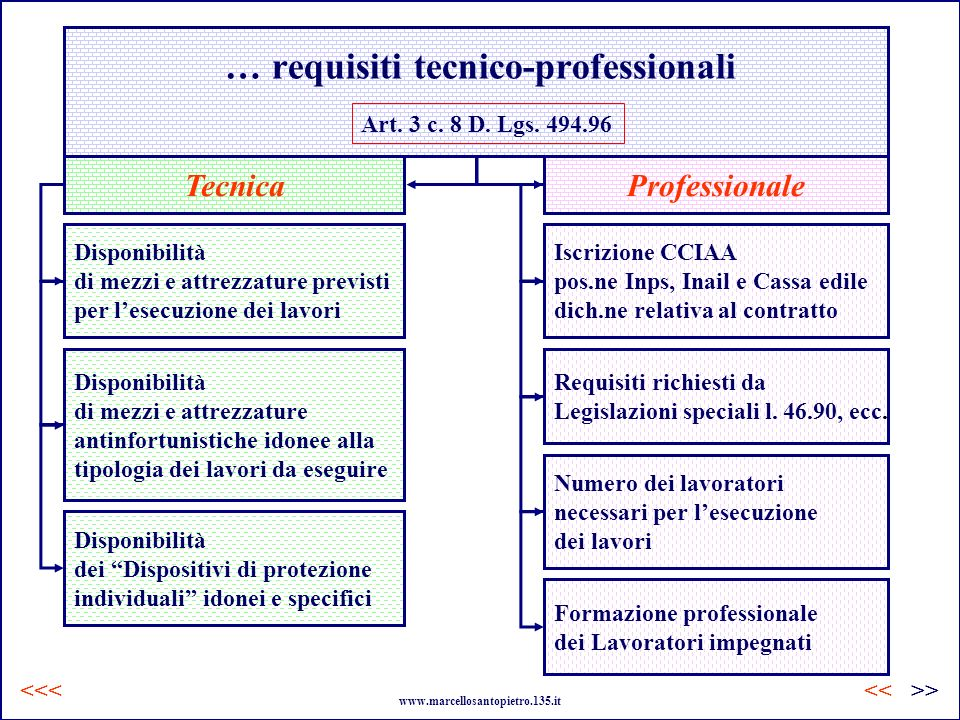 … requisiti tecnico-professionali
