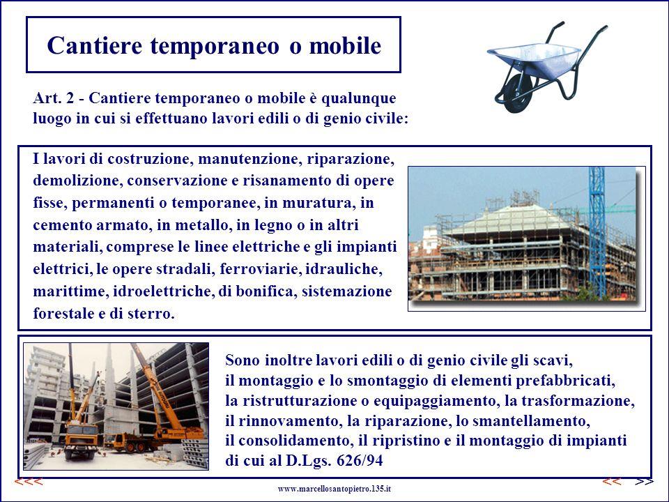 Cantiere temporaneo o mobile