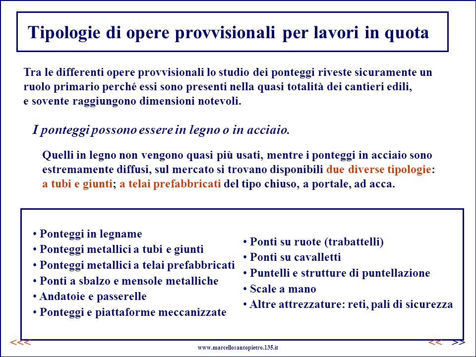 Tipologie di opere provvisionali per lavori in quota