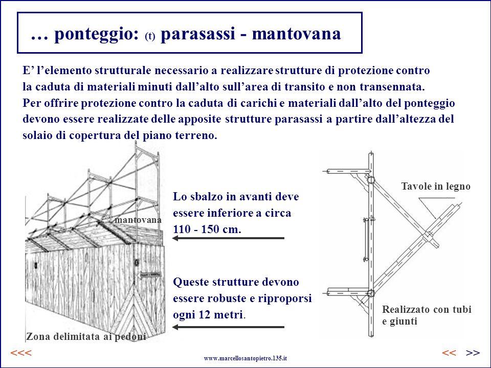 … ponteggio: (t) parasassi - mantovana