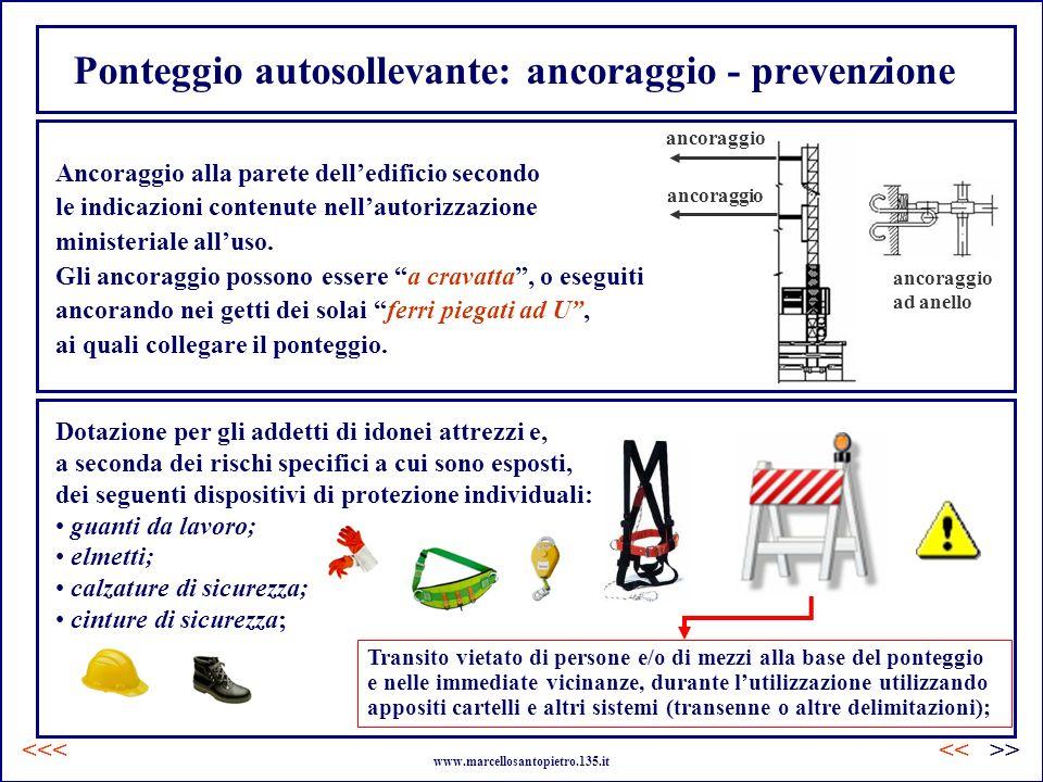 Ponteggio autosollevante: ancoraggio - prevenzione