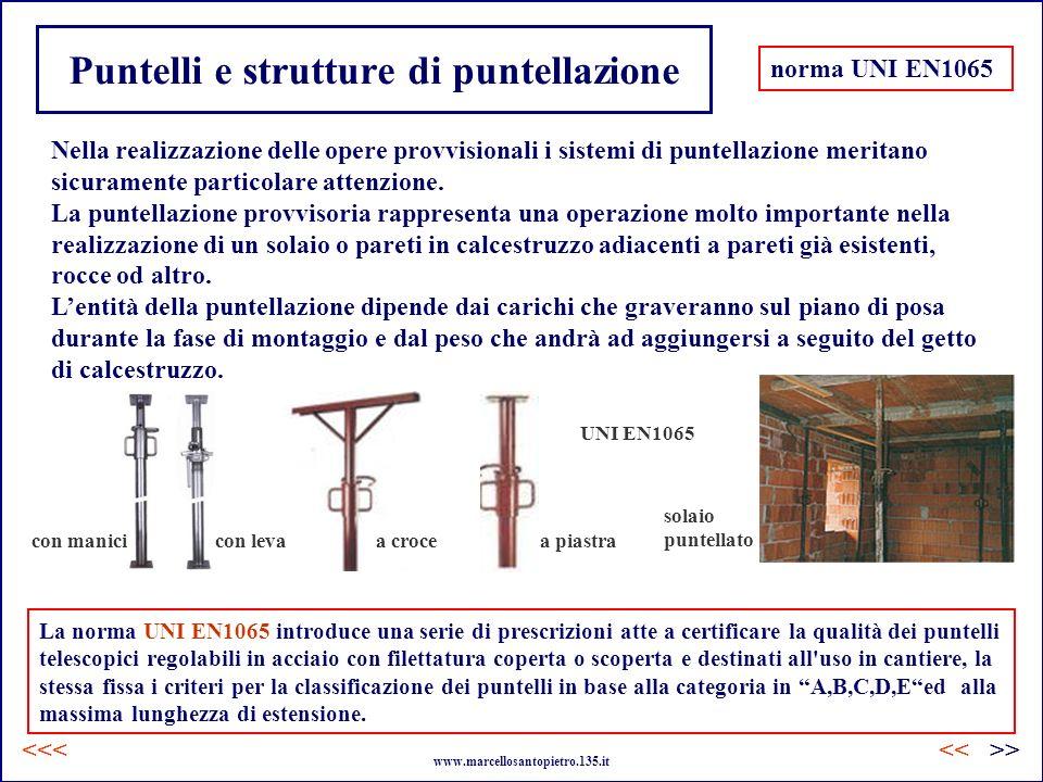 Puntelli e strutture di puntellazione