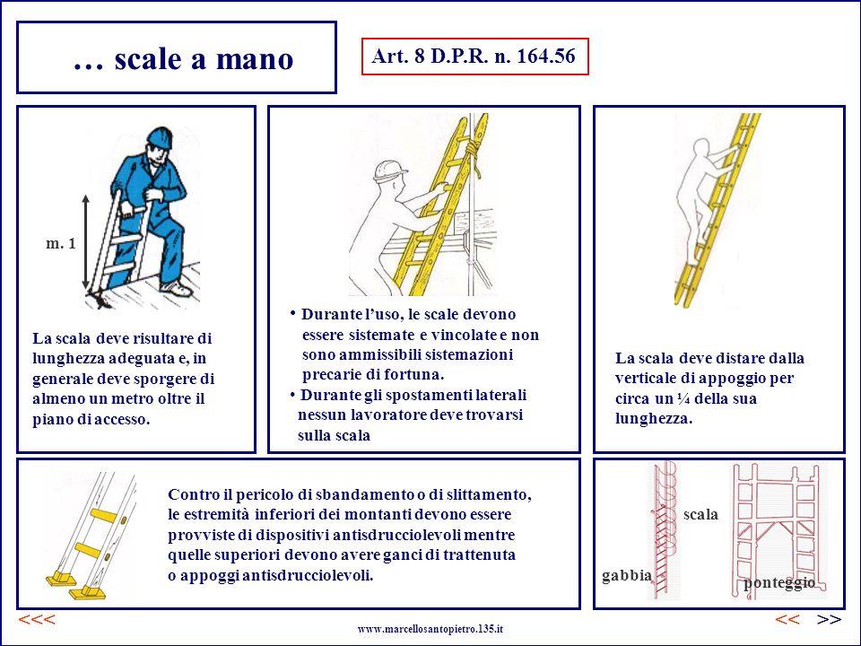 … scale a mano Art. 8 D.P.R. n. 164.56 <<< << >>