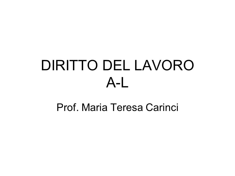 Prof. Maria Teresa Carinci
