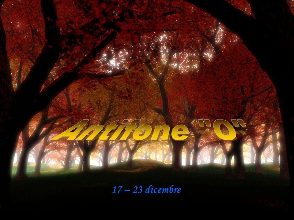 Antifone O 17 – 23 dicembre