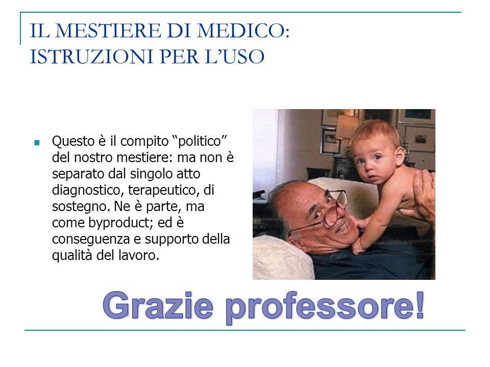 IL MESTIERE DI MEDICO: ISTRUZIONI PER L'USO