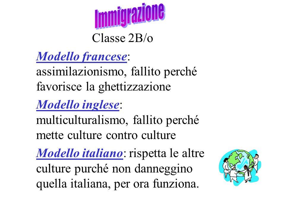 Immigrazione Classe 2B/o