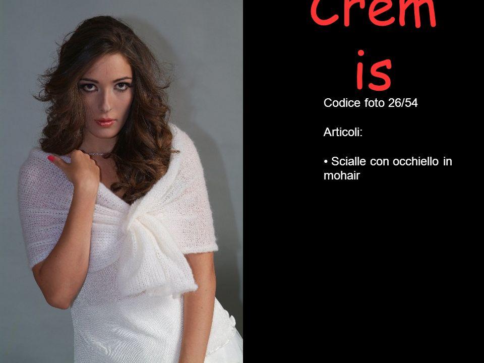 Cremis Codice foto 26/54 Articoli: Scialle con occhiello in mohair