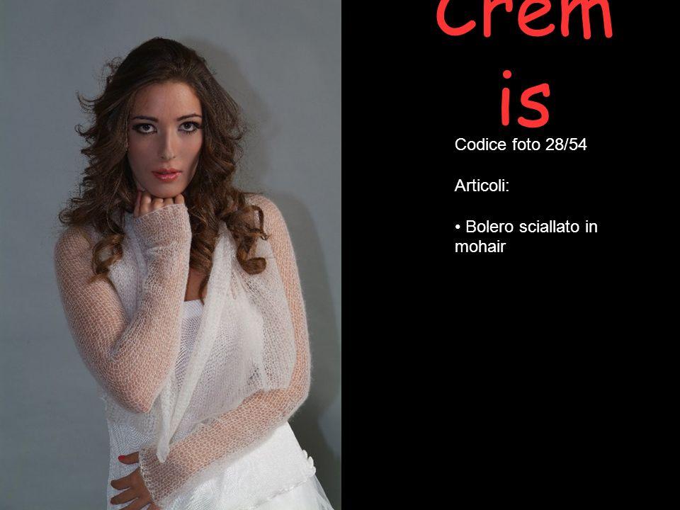 Cremis Codice foto 28/54 Articoli: Bolero sciallato in mohair