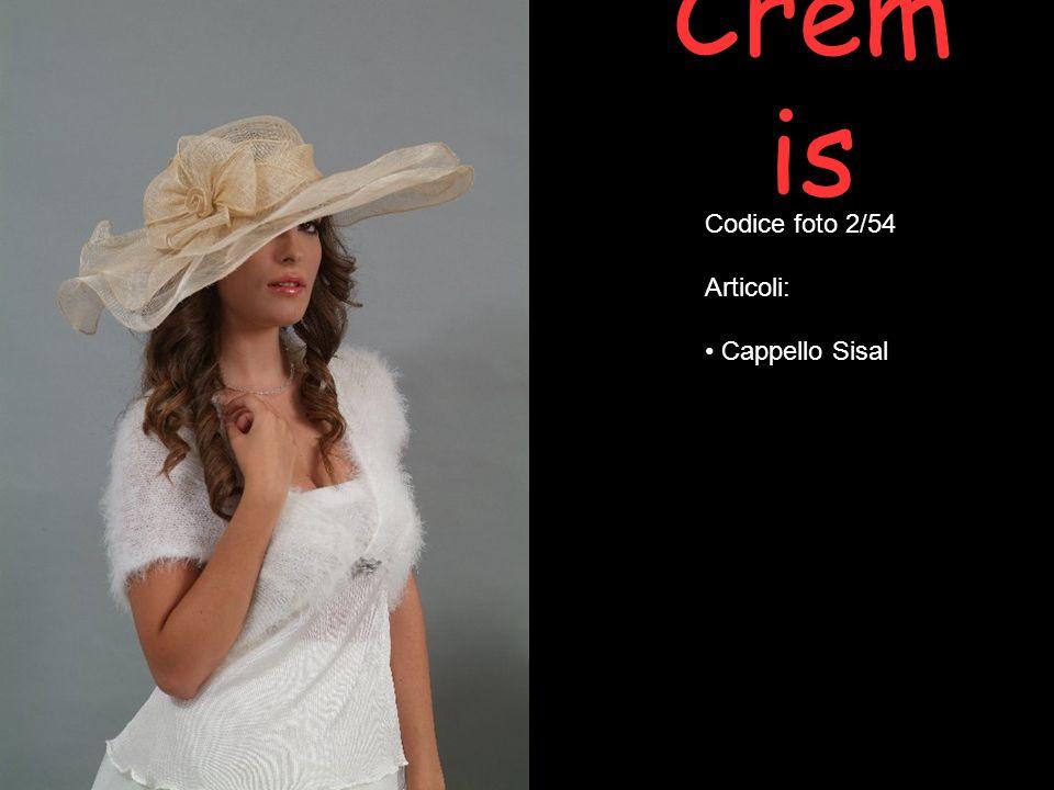 Cremis Codice foto 2/54 Articoli: Cappello Sisal