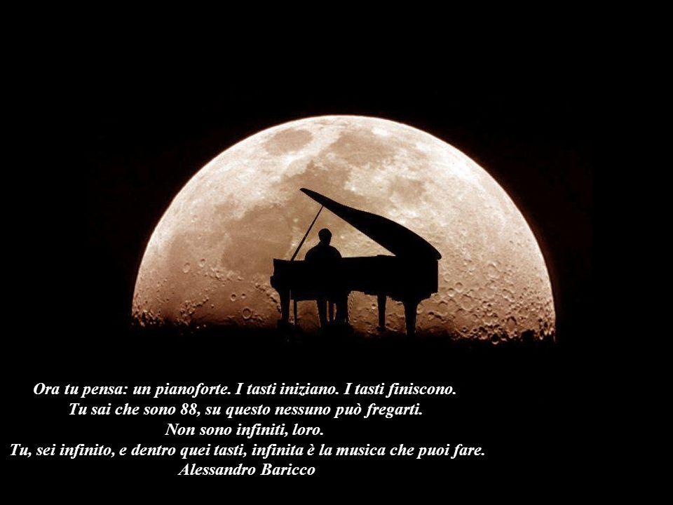 Ora tu pensa: un pianoforte. I tasti iniziano. I tasti finiscono.