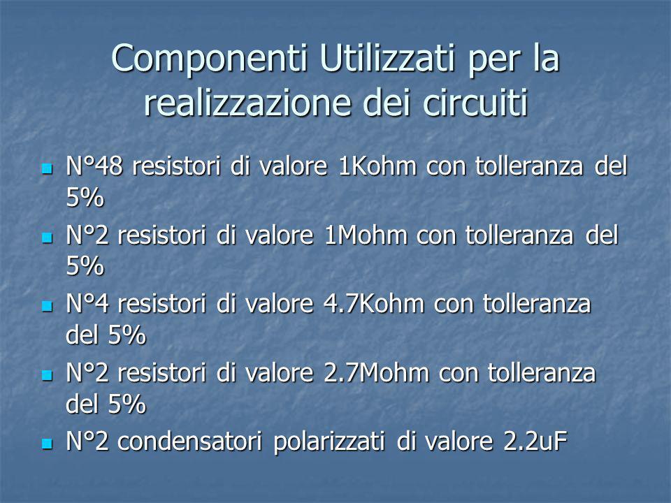 Componenti Utilizzati per la realizzazione dei circuiti