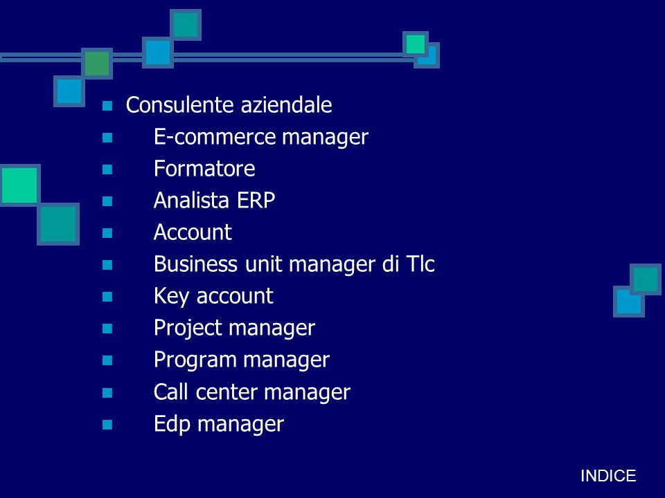 Business unit manager di Tlc Key account Project manager