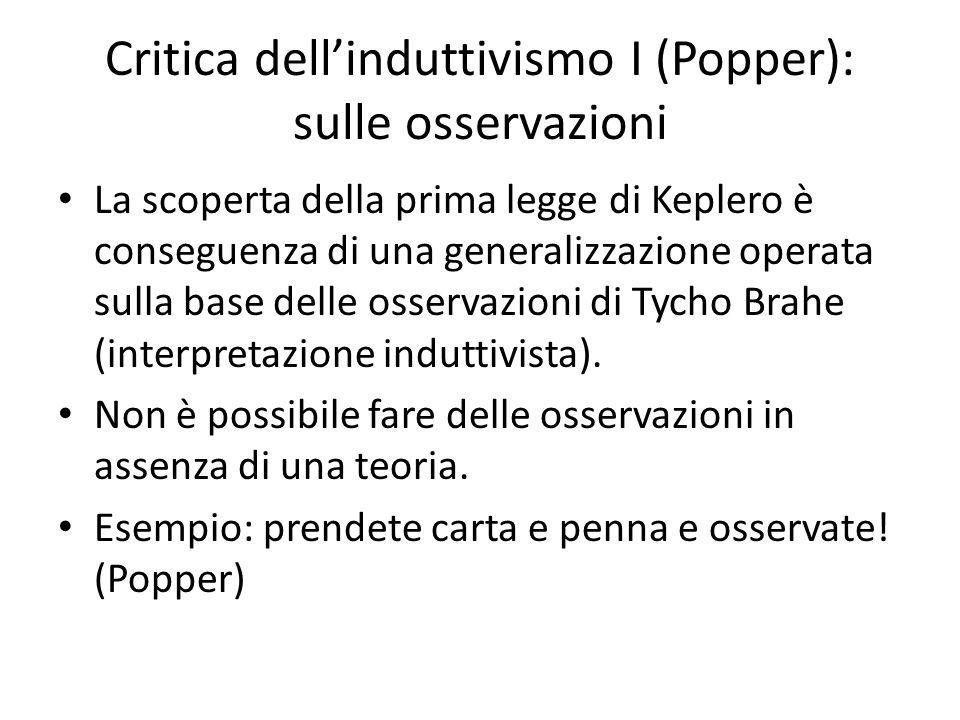 Critica dell'induttivismo I (Popper): sulle osservazioni