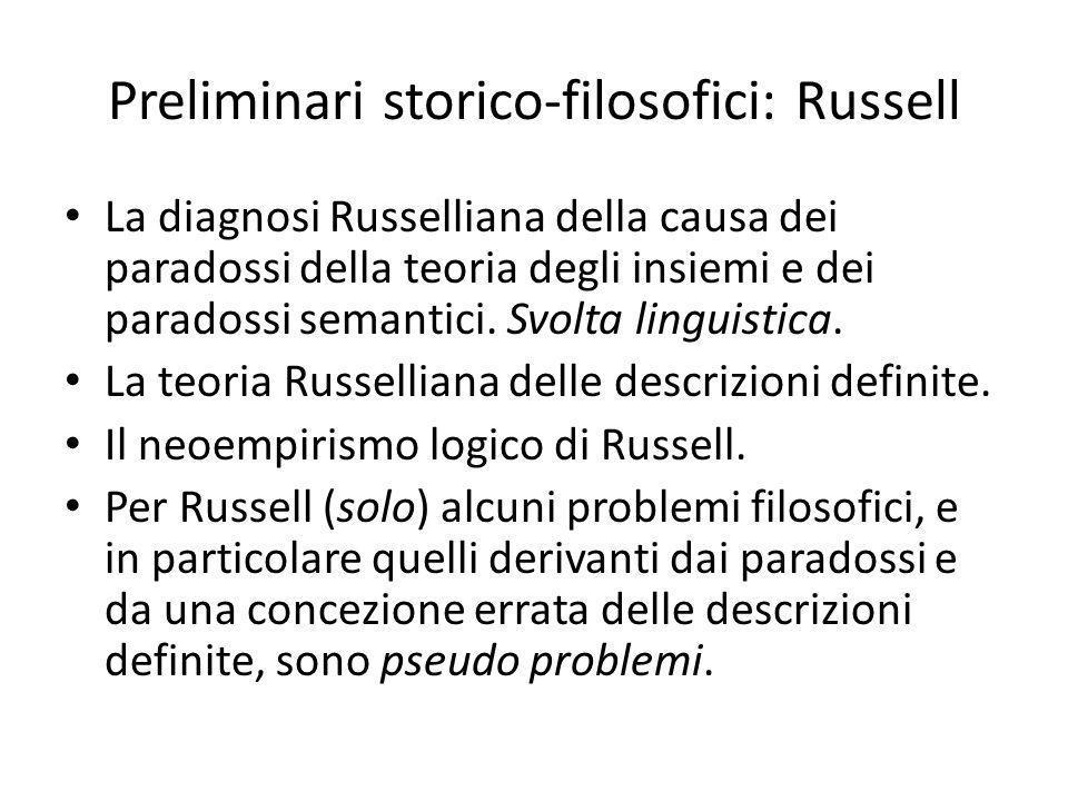 Preliminari storico-filosofici: Russell