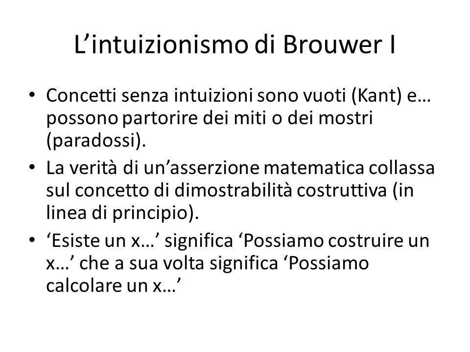 L'intuizionismo di Brouwer I