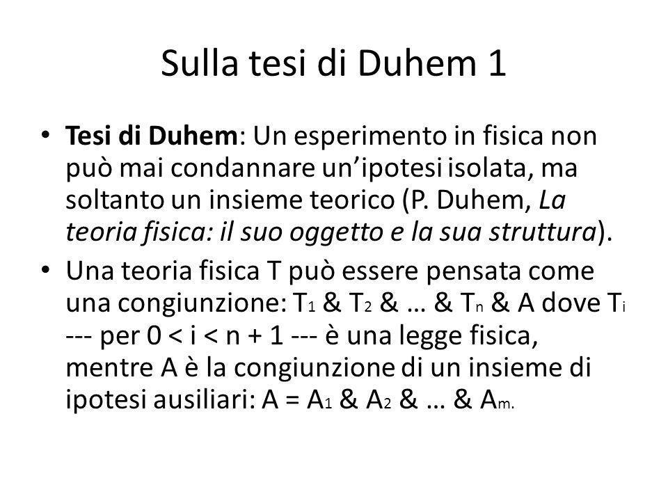 Sulla tesi di Duhem 1