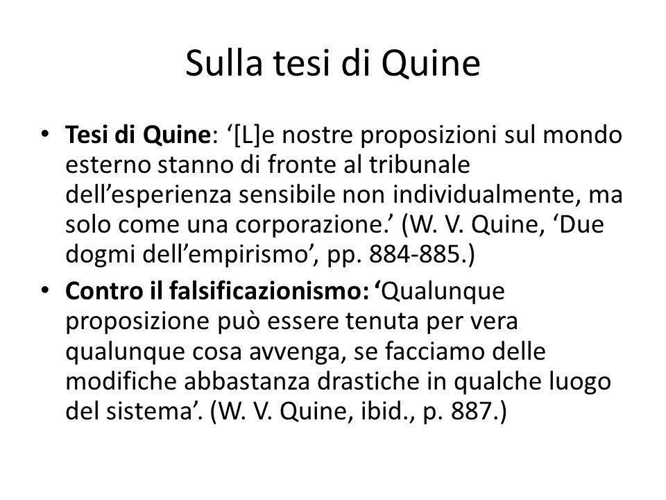 Sulla tesi di Quine
