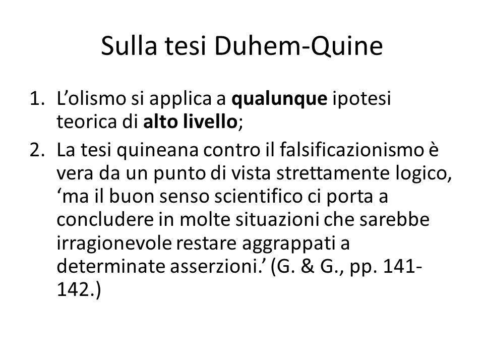 Sulla tesi Duhem-Quine